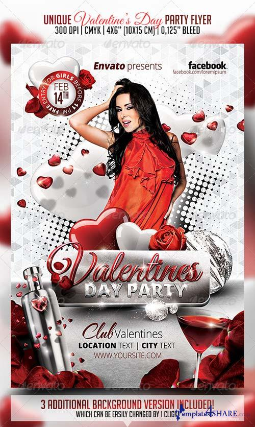 GraphicRiver Valentines Day Party Flyer