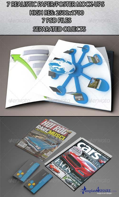 GraphicRiver 7 Realistic Paper/Poster Mock-ups