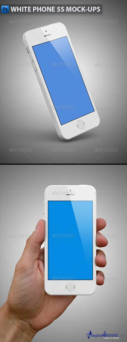 GraphicRiver White Phone 5s Mock-Ups