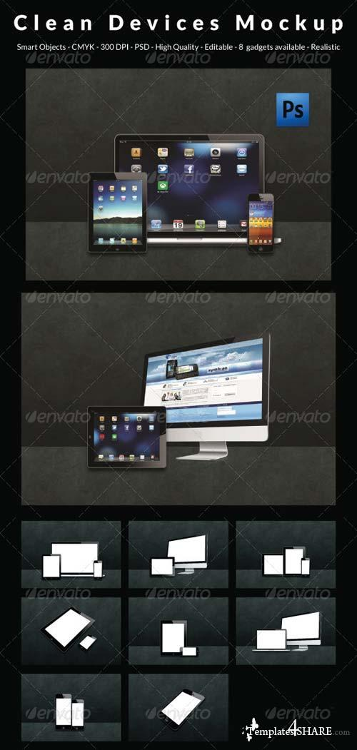 GraphicRiver Clean Devices Mockup
