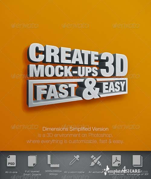 GraphicRiver Dimensions Simplified Version - Mock-Up 3