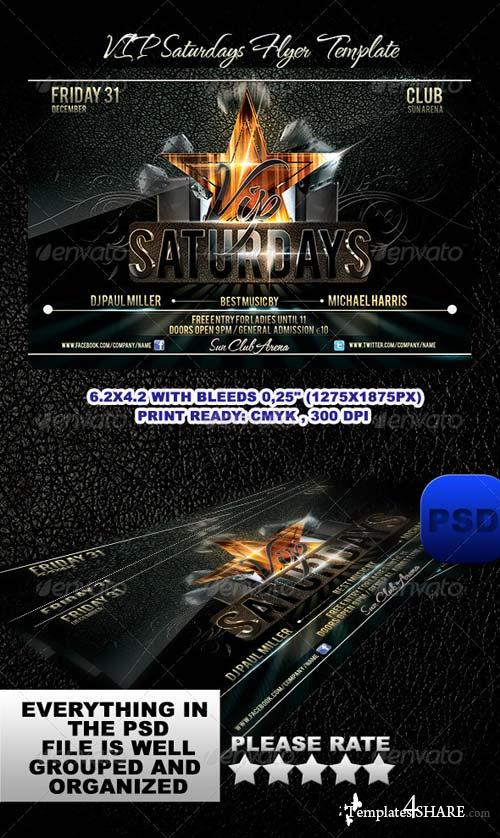 GraphicRiver VIP Saturdays Flyer Template