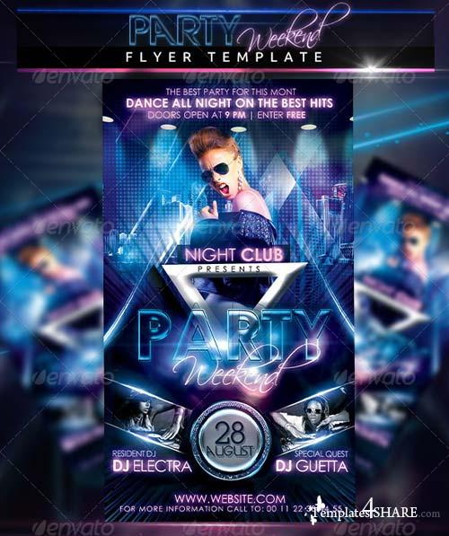 GraphicRiver Party Weekend Flyer Template