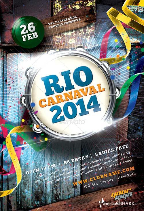 GraphicRiver Carnaval 2014 Flyer Template