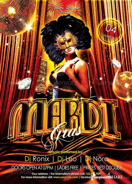 GraphicRiver Mardi Gras Flyer Template