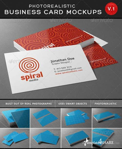 GraphicRiver Ultimate Photorealistic Business Card Mockups