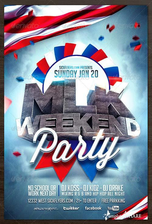 GraphicRiver MLK Weekend Flyer Template