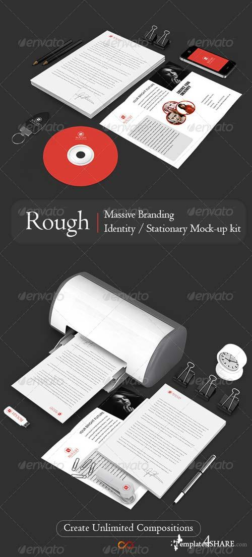 GraphicRiver Rough Massive Branding/Stationary Mockup Kit