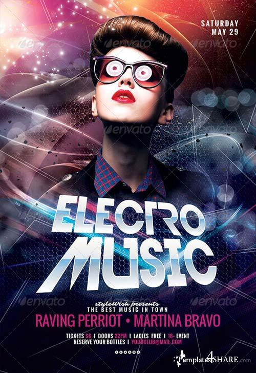 GraphicRiver Electro Music Flyer