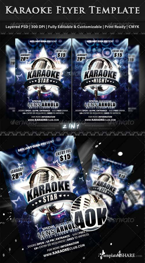 GraphicRiver Karaoke Star Or Night Party Flyer