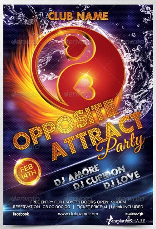 GraphicRiver Valentines/Opposite Attract Flyer