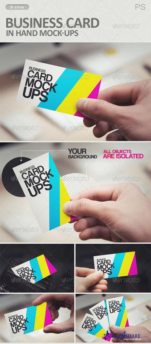GraphicRiver Business Card in Hand Mock-Ups
