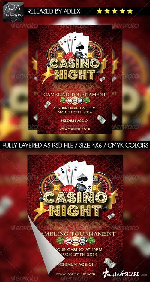 GraphicRiver Casino Night Flyer