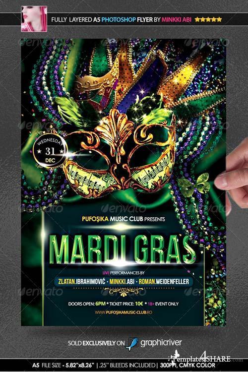 GraphicRiver Mardi Gras Poster/Flyer