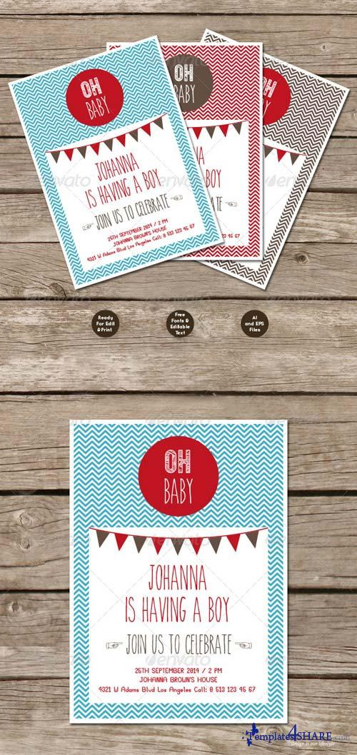 GraphicRiver Baby Shower Invations