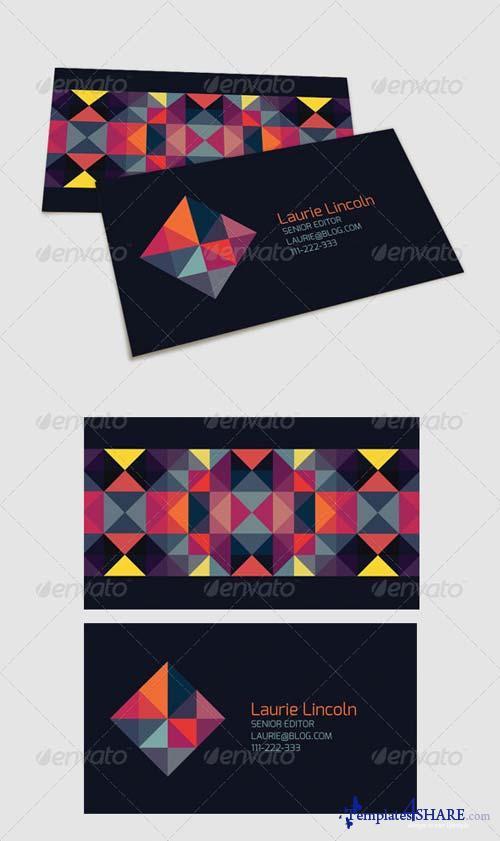 GraphicRiver Trendy Geometric Business Card