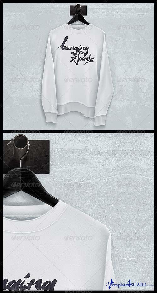GraphicRiver Black White Sweatshirt Mockup