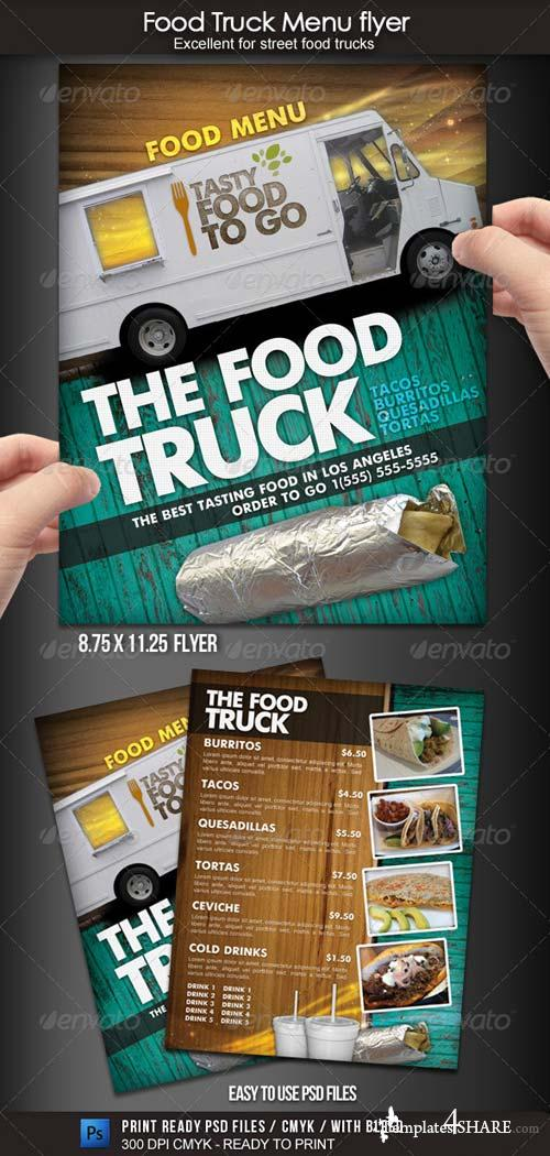 GraphicRiver Food Truck Menu Flyer