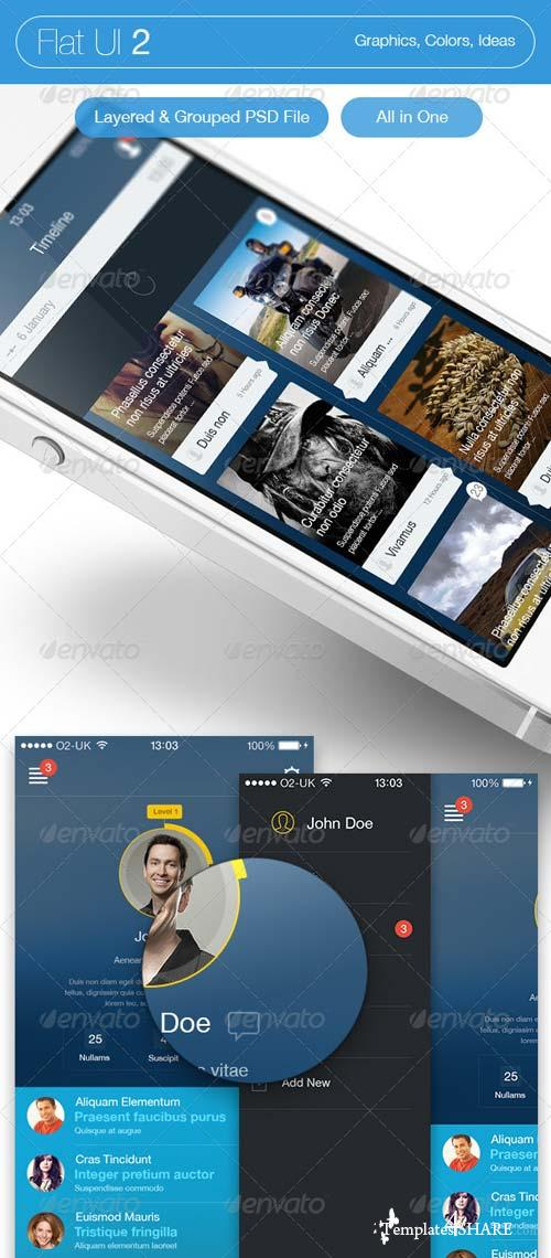 GraphicRiver Flat UI 2