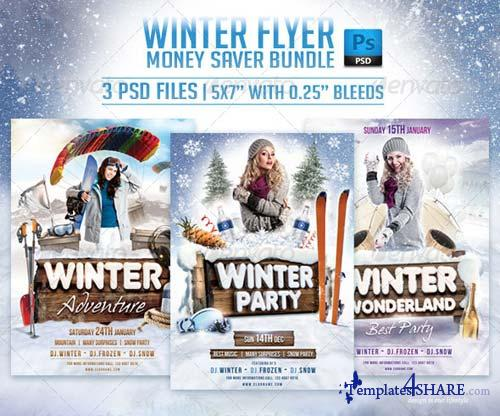 GraphicRiver Winter Flyer Bundle