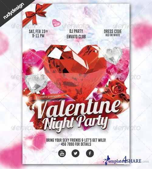 GraphicRiver Elegant Valentine Party with Crystal Diamond Style