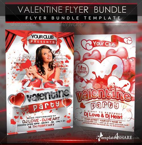 GraphicRiver Valentine Party Flyer Bundle