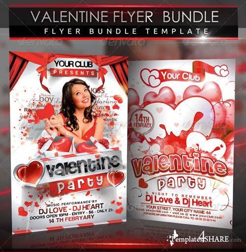 GraphicRiver Valentine Party Flyer Bundle