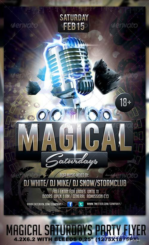 GraphicRiver Magical Saturdays Party Flyer