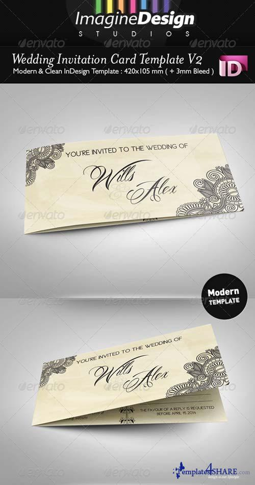 GraphicRiver Wedding Invitation Card V2