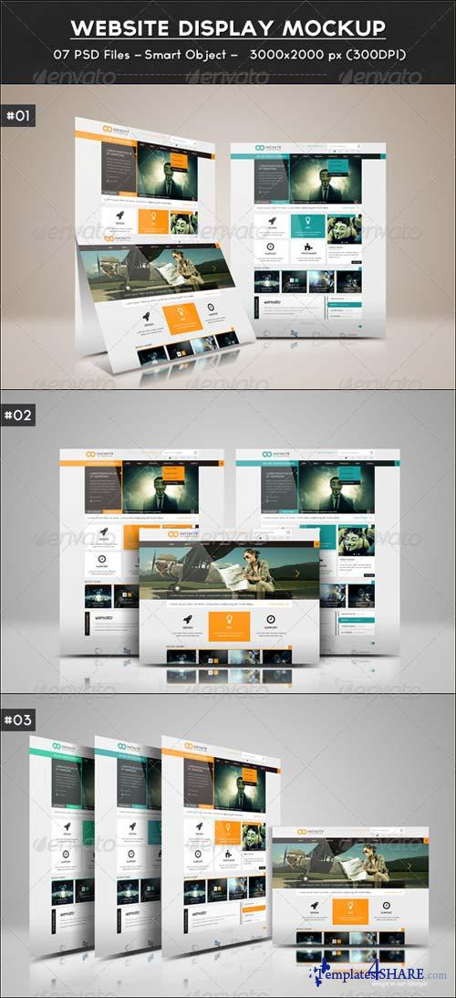 GraphicRiver Website Display Mockup