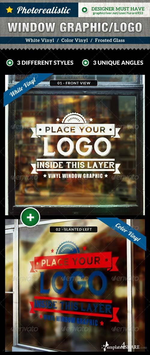 GraphicRiver Photorealistic Glass Window Mock Up