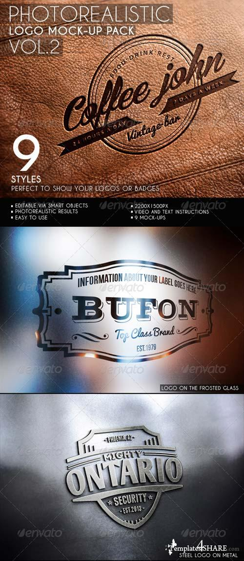GraphicRiver Photorealistic Logo Mock-Up Pack Vol.2