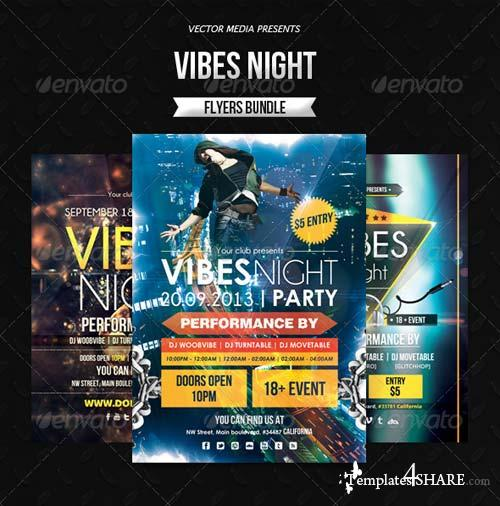 GraphicRiver Vibes Night - Flyers Bundle