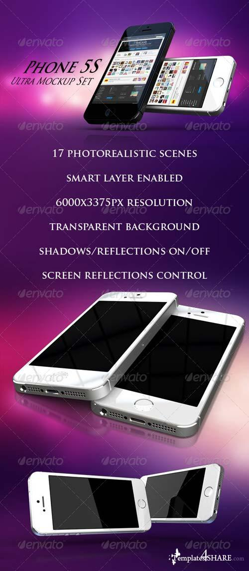 GraphicRiver Phone 5S Ultra Mockup Set
