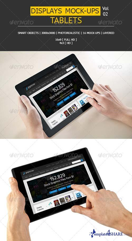 GraphicRiver 16 Displays Mock-Ups | Tablet