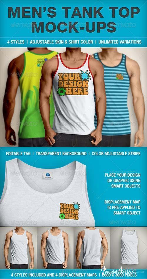 GraphicRiver Tank Top Mockup | Men's
