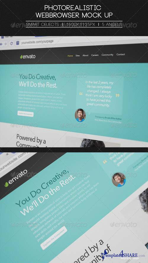 GraphicRiver Photorealistic Webbrowser Mock-Up