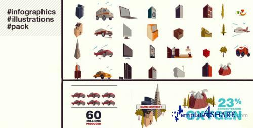 Infographics Illustrations - After Effects Project (Videohive)