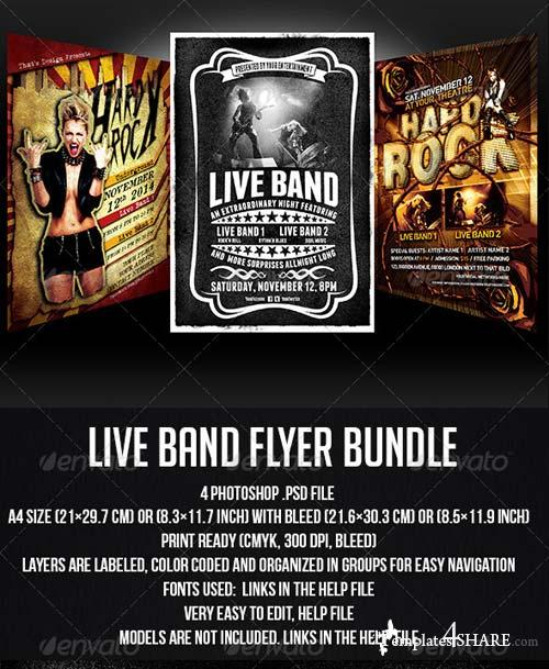 GraphicRiver Live Band Flyer Bundle
