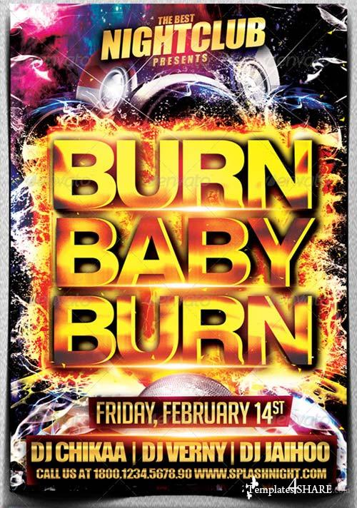 GraphicRiver Burn Baby Burn Party Flyer