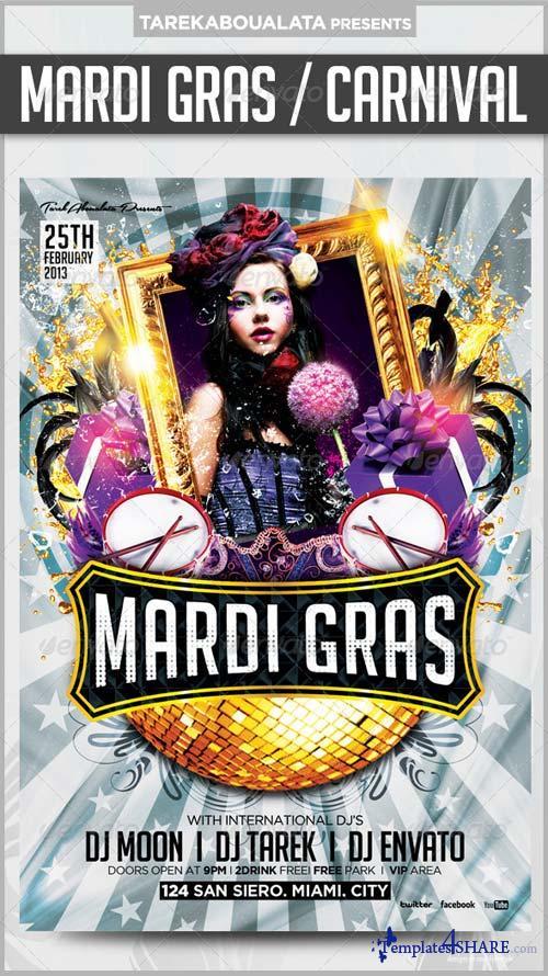 GraphicRiver Mardi Gras / Carnival Flyer v.2