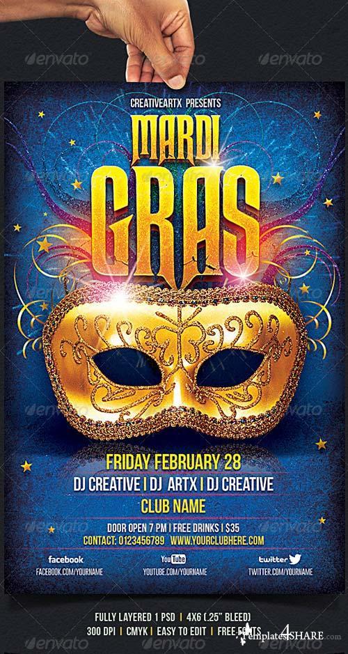 GraphicRiver Mardi Gras Flyer