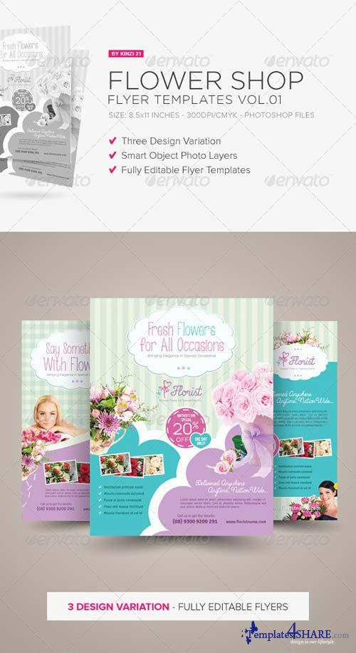 GraphicRiver Flower Shop Flyer Templates