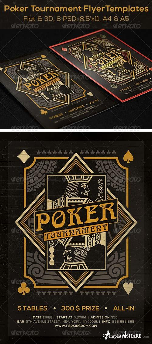 GraphicRiver Poker Magazine Ad, Poster or Flyer - Flat & 3D
