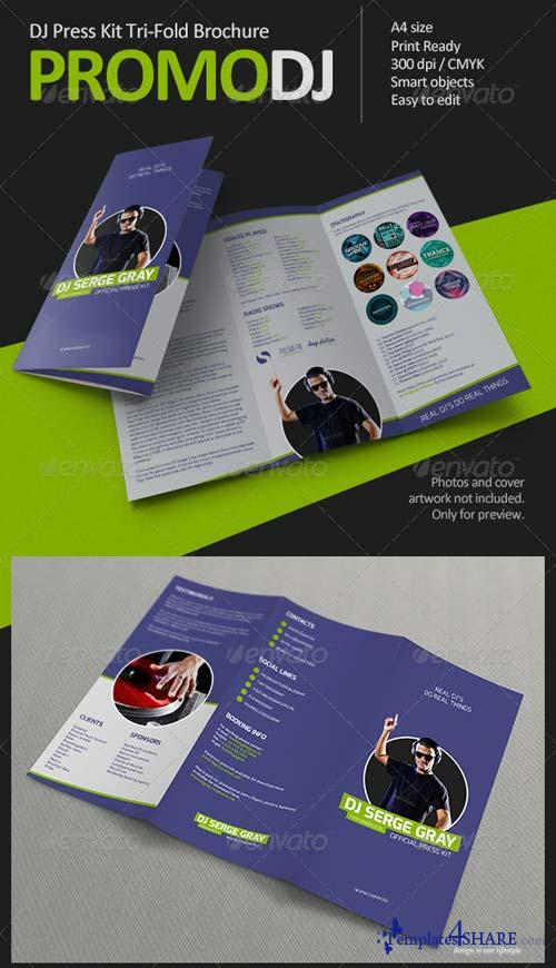 Graphicriver promodj dj press kit tri fold brochure for Dj press kit template free