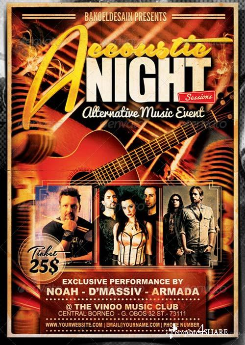 GraphicRiver Accoustic Night Sessions Flyer