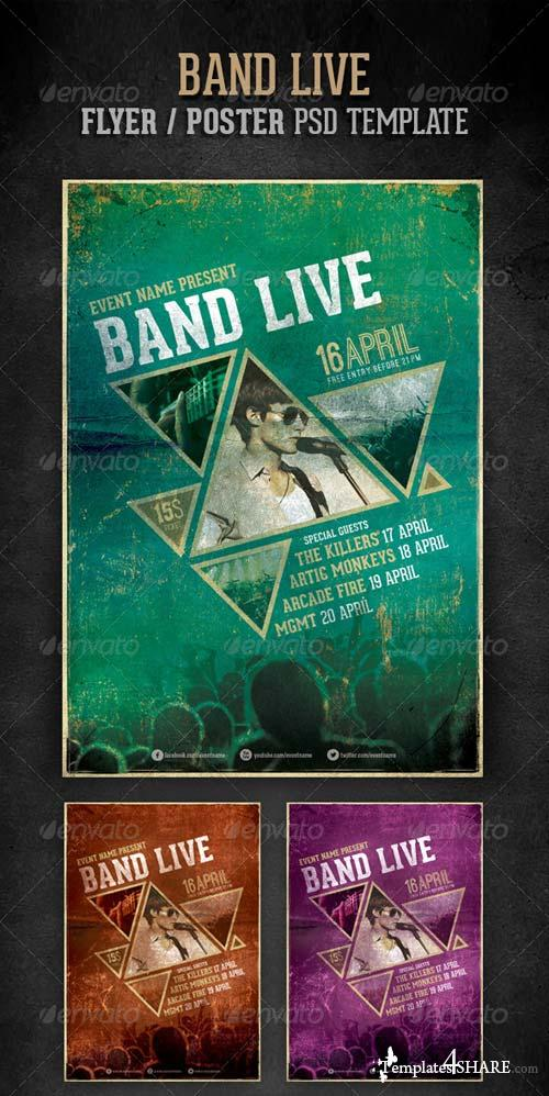 GraphicRiver Band live flyer/poster