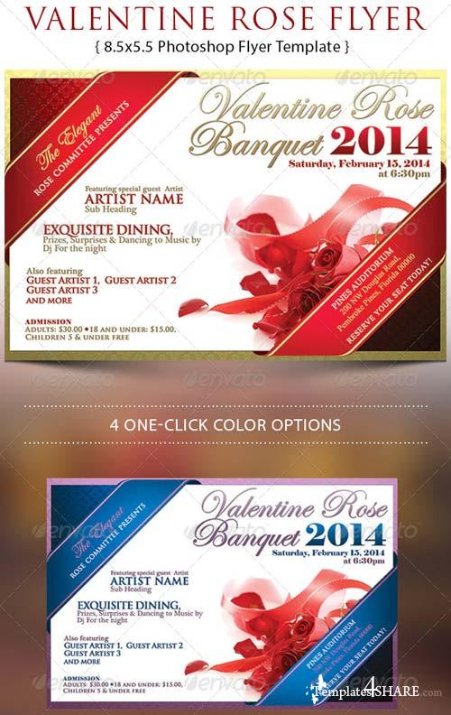 GraphicRiver Valentine Rose Banquet