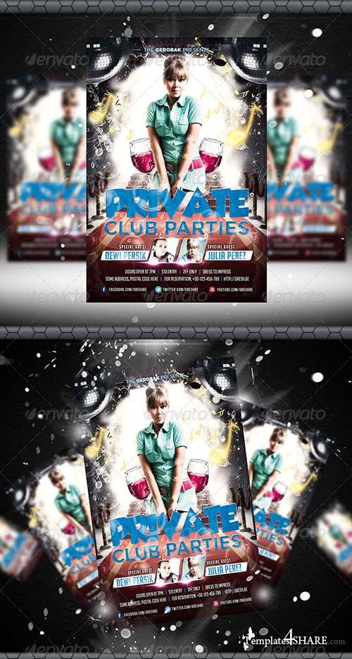 GraphicRiver Private Club Parties Flyer Template