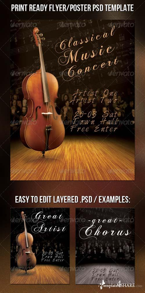 GraphicRiver Classic Music Flyer
